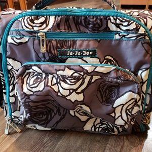 Jujube BFF charcoal Roses diaper bag